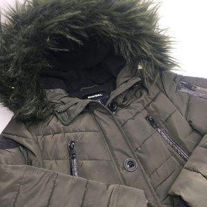 Diesel Hooded Puffer Parka Coat Jacket